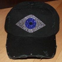 Evil Eye Hat - Rhinestone Baseball Hat